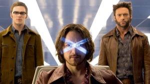 Nicholas Hoult, James McAvoy & Hugh Jackman in 'X-Men: Days of Future Past'