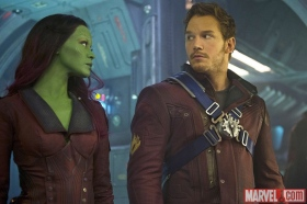 Zoe Saldana & Chris Pratt in 'Guardians of the Galaxy'
