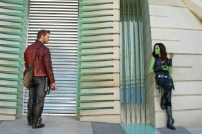 Chris Pratt & Zoe Saldana in 'Guardians of the Galaxy'