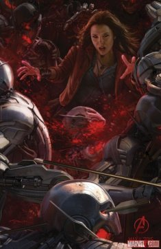 Scarlet Witch 'Age of Ultron' Concept Art Poster