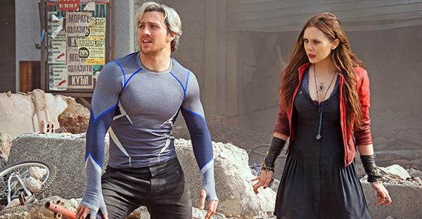 Aaron Taylor-Johnson & Elizabeth Olsen in 'The Avengers: Age of Ultron'