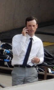 Scoot McNairy on set 'Batman V Superman'