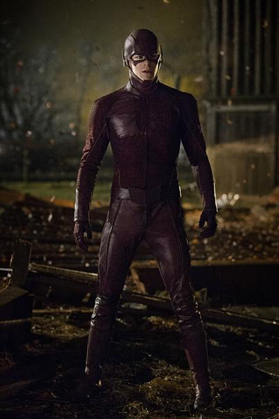 'The Flash' Image 1: Here's 'The Flash' in his awesome new costume. I like how the red isn't too bright, it gives you a sense of a more serious tone.