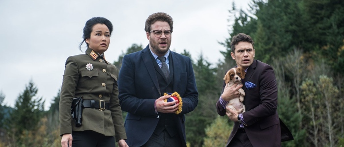 Diana Bang, Seth Rogen & James Franco in 'The Interview'