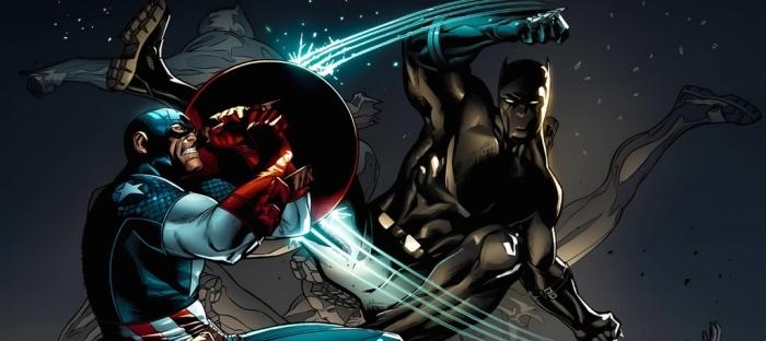 Marvel Comics Captain America & Black Panther