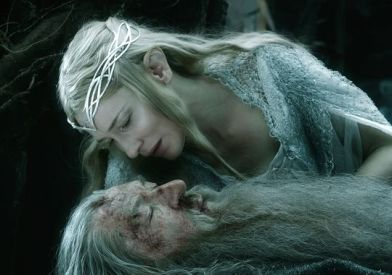 Ian McKellen & Cate Blanchett in 'The Battle of the Five Armies'