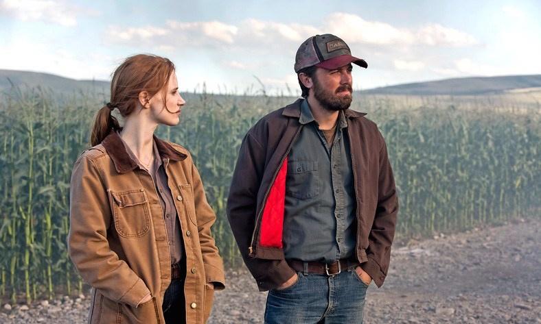 Jessica Chastain & Casey Affleck in 'Interstellar'