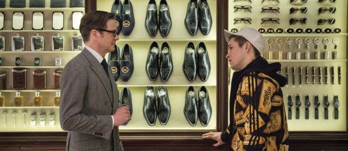 Colin Firth & Taron Egerton in 'Kingsman: The Secret Service'