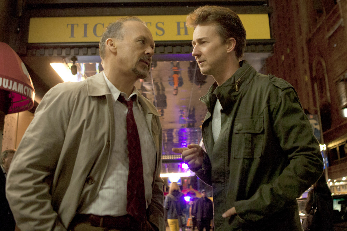 Michael Keaton and Edward Norton