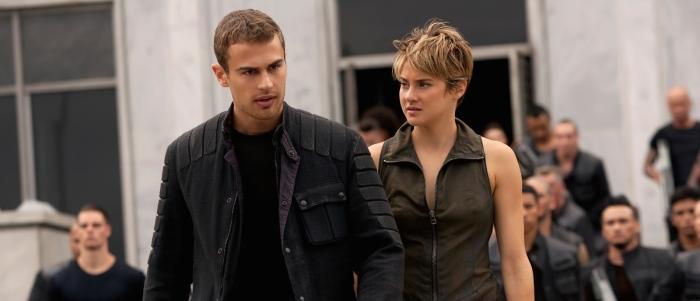 Theo James & Shailene Woodley in 'Insurgent'