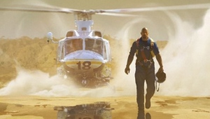 Dwayne Johnson on set 'San Andreas'