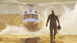 Dwayne Johnson on set 'San Andreas'
