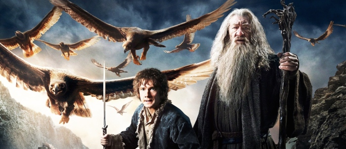 Martin Freeman & Ian McKellen in 'The Battle of the Five Armies'