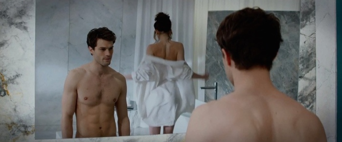 Jamie Dornan & Dakota Johnson in 'Fifty Shades of Grey'