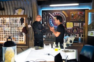 Peyton Reed & Paul Rudd on set 'Ant-Man'