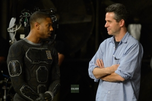 Michael B. Jordan & Simon Kinberg on set 'The Fantastic Four'