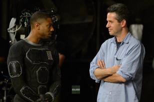 Michael B. Jordan & Simon Kinberg on set 'The Fantastic Four'