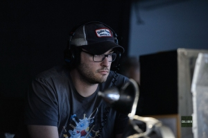 Josh Trank on set 'The Fantastic Four'
