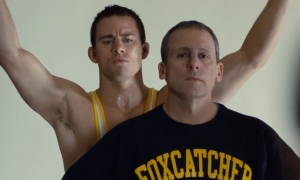 Channing Tatum & Steve Carell in 'Foxcatcher'
