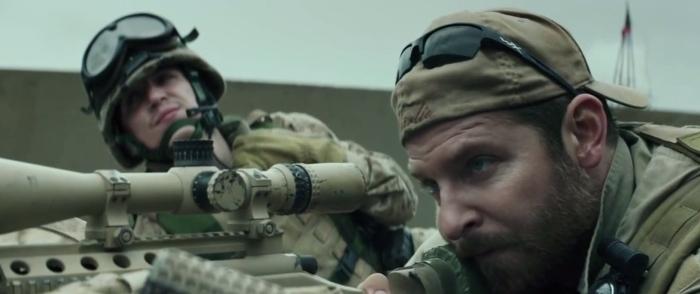 Bradley Cooper & Kyle Gallner in 'American Sniper'