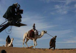 On set 'Queen of the Desert'