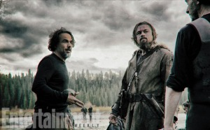 Alejandro González Iñárritu & Leonardo DiCaprio in 'The Revenant'