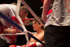 Aaron Eckhart & Miles Tellar in 'Bleed for This'