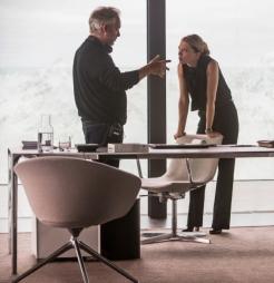 Sam Mendes & Lea Seydoux on set 'Spectre'