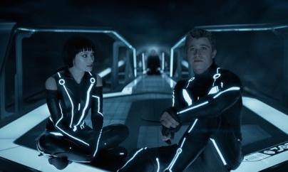 Olivia Wilde & Garret Hedlund in 'Tron Legacy'