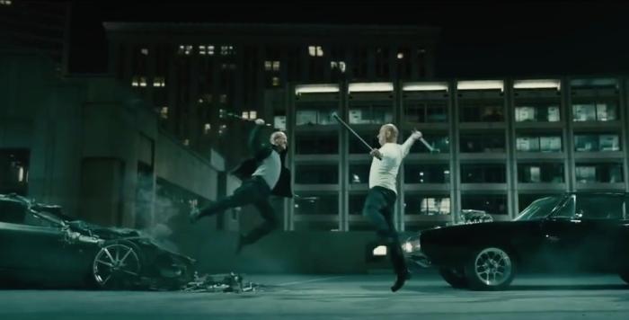 Jason Statham & Vin Diesel in 'Furious 7'