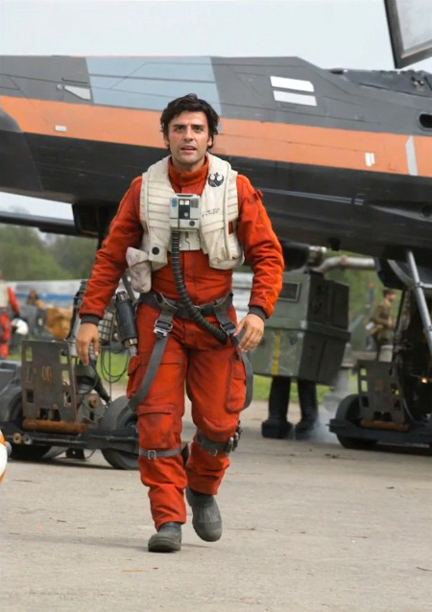 Oscar Isaac in 'Star Wars: The Force Awakens'