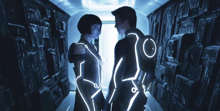 Olivia Wilde & Garret Hedlund in 'Tron: Legacy'