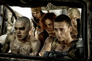 Nicholas Hoult & Charlize Theron in 'Mad Max: Fury Road'