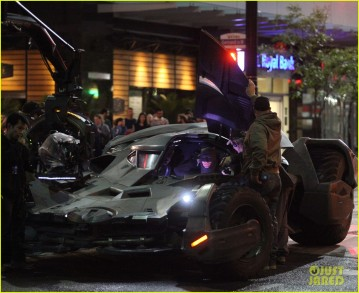 On set 'Suicide Squad'