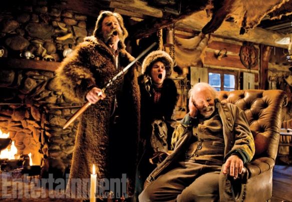 Kurt Russell, Jennifer Jason Leigh & Bruce Dern in 'The Hateful Eight'