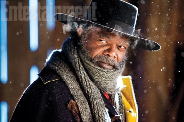 """Major Marquis Warren aka """"The Bounty Hunter (Samuel L. Jackson), an ex-Union soldier with """"his own fair share of secrets."""""""