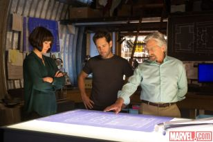Evangeline Lilly, Paul Rudd & Michael Douglass in 'Ant-Man'