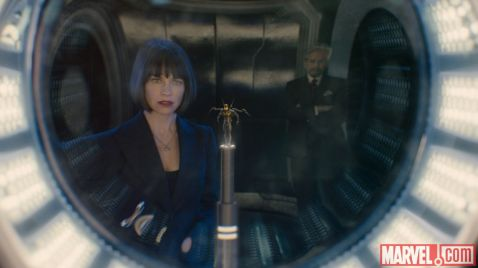 Evangeline Lilly & Michael Douglass in 'Ant-Man'