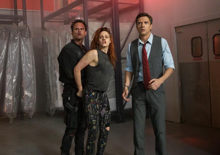 Walter Goggins, Kristen Stewart & Topher Grace in 'American Ultra'
