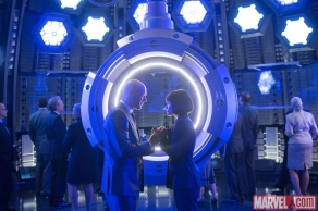 Corey Stoll & Evangeline Lilly in 'Ant-Man'