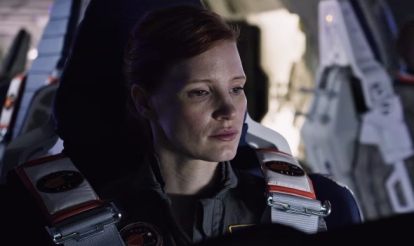 Jessica Chastain as Astronaut Melissa Lewis in 'The Martian'