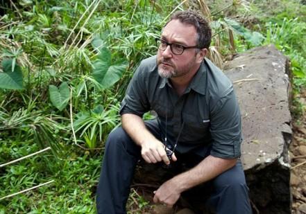 Colin Trevorrow on set 'Jurassic World'