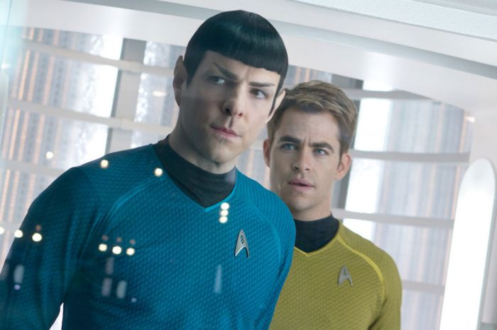 Zachary Quinto & Chris Pine in 'Star Trek Into Darkness'