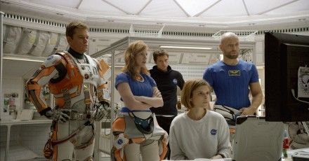 Matt Damon, Jessica Chastain, Sebastian Stan, Kate Mara, and Aksel Hennie in 'The Martian'