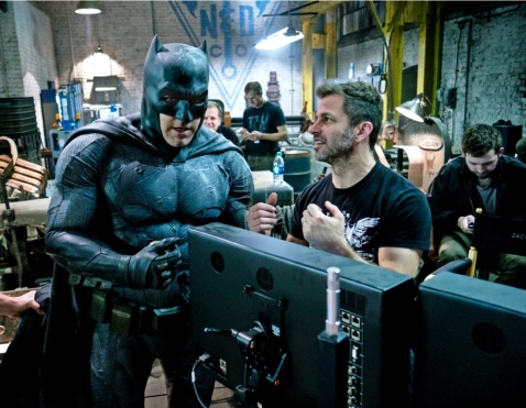 Ben Affleck & Zack Snyder on set 'Batman V Superman: Dawn of Justice'