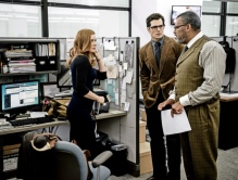 Amy Adams, Henry Cavill & Laurence Fishburne in 'Batman V Superman: Dawn of Justice'