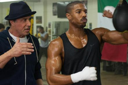 Sylvester Stallone & Michael B. Jordan in 'Creed
