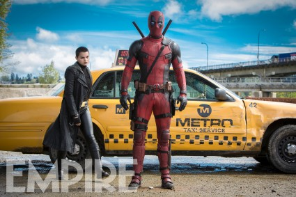Ryan Reynolds & Brianna Hildebrand in 'Deadpool'