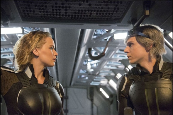 Jennifer Lawrence & Evan Peters in 'X-Men: Apocalypse'