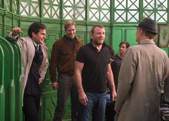 Henry Cavill, Armie Hammer, Guy Ritchie & Jared Harris on set 'The Man from U.N.C.L.E.'